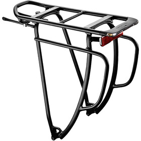 "Racktime Shine Evo Tour Rack 29"" With Parking Light black"